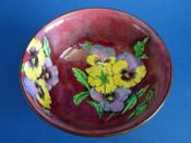 Lovely Royal Doulton 'Pansy - Mottled Ground' Winchester Bowl D6402 c1950